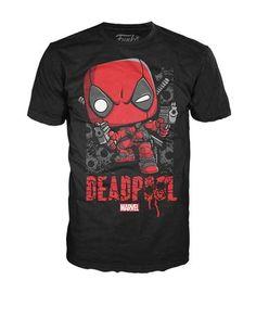 Pop! Tees: Marvel - Deadpool Shots Shattered