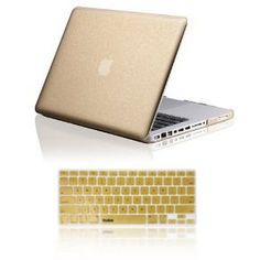 """Amazon.com : Osaka STARDUST series Gold Case / Cover for 13"""" A1278 Aluminum Unibody MacBook Pro (Black keys, 13.3-inch diagonal screen) + Gold Keyboard Skin/Cover for 13-Inch A1278 Aluminum Unibody MacBook Pro : Laptop & Netbook Computer Bags & Cases : Computers & Accessories"""