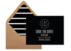 Modern Save the date modern wedding announcement by DAYDREAMPRINTS, $4.00