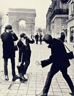 The Beatles at thee Champs-Elysées, 1964. TheSwingingSixties Tumblr