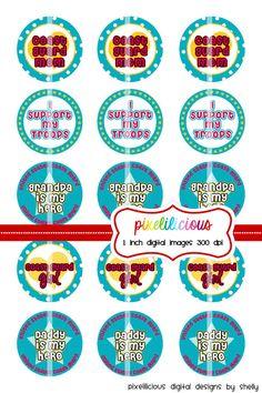 Bottle Cap Image Sheet  Instant Download  Coast by pixelilicious