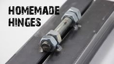 How to make hinges from nuts and bolts ( Life Hacks )