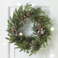 Frosted Pinecone & Fir Wreath | The White Company