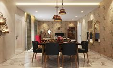Ethnic, Colorful Interior Design For Sobha Marvella, Bangalore Colorful Interior Design, Colorful Interiors, Corner Wardrobe, Dining Room Design, Dining Rooms, Mid Century Dining Chairs, Functional Kitchen, Best Dining, Bedroom Decor