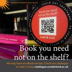 Here's a photo we took of our shelf edge 'wobblers'. Customers can scan the QR on the wobbler and read our eBooks online via our library catalogue.