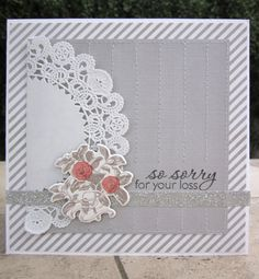 Beautiful sympathy card by Norine Borys.