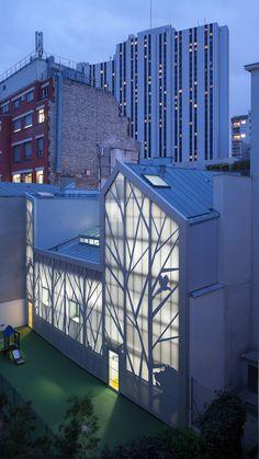 B+C architectes · Ristrutturazione dell'asilo in rue Jules Guesde