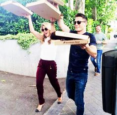 Emily Bett Rickards and Colton Haynes #emton
