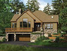 Walkout basement house plans sloping lot architectural for Building a garage on a sloped lot