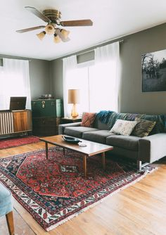 Living Room Red Rug oriental rugs: red with grey walls | dream home | pinterest