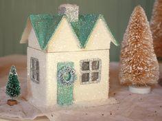 Christmas 2011 Decorating: Glitter Houses