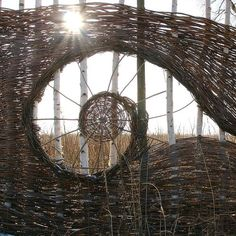 Willow tree sculpture land art new Ideas Land Art, Landscaping Tips, Garden Landscaping, Wattle Fence, Natural Fence, Willow Weaving, Willow Tree, Willow Fence, Willow Branches
