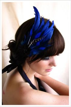 DIY Royal Blue Fascinator Inspiration (picture only). When everyone else is  in an ab2e25f0639