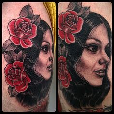 Rose Hardy is a painter and tattoo artist working at Kings Avenue Tattoo in New York City. Rose Hardy, Artist At Work, Tattoo Artists, Red Roses, Body Art, Black And Grey, Portrait, Tattoos, Beautiful Body