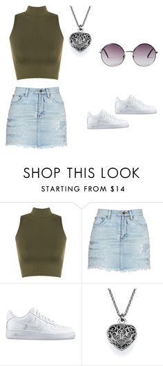 """Gola Rolê"" by saltoaltobrasil on Polyvore featuring moda, WearAll, Yves Saint Laurent, NIKE e Monki"