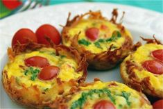 Potato Cup Frittata Recipe - Whole 30 with some alterations - Used Sweet Potatoes, no cream/cheese