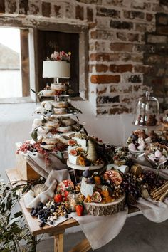 Edison Bulb Installation, Grazing Table and Eco-Friendly Florals Dessert table with Wedding Cake and Doughnut Tower Wedding Cake Rustic, Wedding Table, Wedding Cakes, Wedding Dessert Buffet, Diy Wedding Food, Wedding Ideas, Mobile Bar, Grazing Tables, Wedding Catering