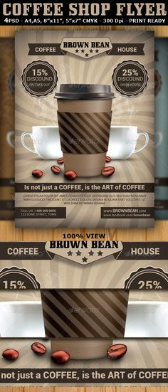 Coffee Icons Icons, Flyer printing and Print templates - coffee shop brochure template