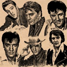 Elvis Collage (Found on the  Elvis page Guitar MAN on facebook.)