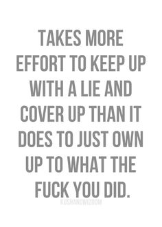 Im Fed Up With Your Lies And Cheating