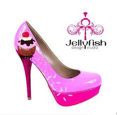 I need these!  Yes, I need pink cupcake high heels....I really do!