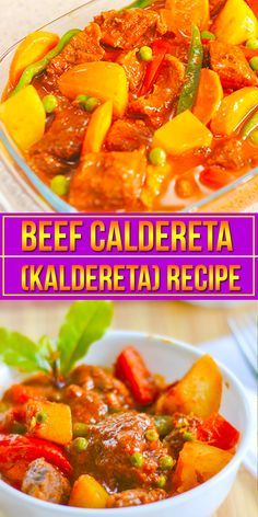 This Beef Caldereta recipe (Kaldereta)  gives you a know-how on preparing this hearty dish. Beef Caldereta or Kaldereta is also known as the beef stew in tomato sauce. In the Northern part of the Philippines such as Ilocos Norte, they use the meaty bones of Goat instead of beef or pork.