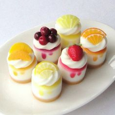 miniature cheesecakes - maybe made as soap or mini purses?