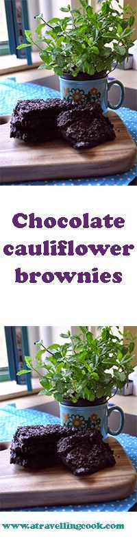 Chocolate cauliflower brownies: a sneaky way to add vegetables to your baked goods!
