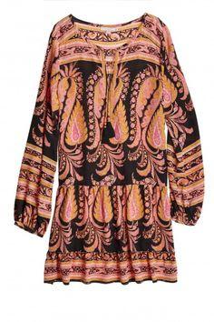Renisma Block Printed Silk Dress  | Calypso St. Barth