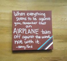 This flying quote painted on canvas is perfect for the aviator in your life - and it's just $22, so order it today for that special person