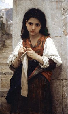 Tricoteuse by William-Adolphe Bouguereau (1879)