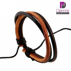 Welcome to Bracelets for women, Womens leather bracelets, Womens bracelets, BR047. This is a fantastic multi leather string bracelet suitable for all ages. Simple, minimal and yet, has such a visual impact on your total outfit that it will amaze you. It is comprised of two main black cords and one brown. It is a unique item, made of unique materials, for unique people. Join our brand now and take advantage of the future value of this item. ♬ Occasion ♬ ♬ A fantastic handmade piece of ...