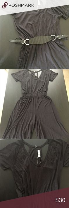 Zara Colletion jersey palazo jumpsuit Dress it up or down perfect for any casual ocasion or dinner date. New condition with tickets attached. Belt not included Zara Other