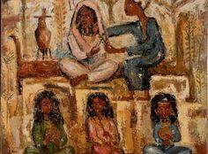 The School of Painting - Alberto Chiancone 1940 Italian, Galleria Mediterranea, Napoli