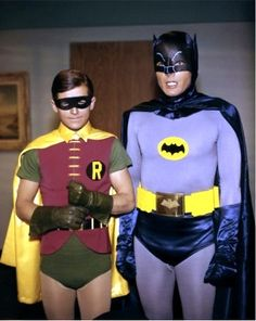 Adam West and Burt Ward. Batman and Robin. The only Batman I choose to recognize. Adam West Batman, Batman Robin, Batman 1966, Im Batman, Batman Art, Funny Batman, Gotham Batman, Batman Tv Show, Street Photography
