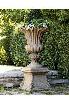 Orlandi Statuary Made of Fiberstone FS098 Beautiful Prairie Garden Urn Planter