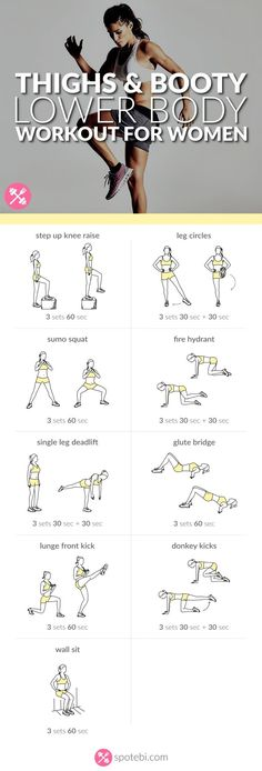 Sculpt your glutes, hips, hamstrings, quads and calves with this lower body workout. A routine designed to give you slim thighs, a rounder booty and legs for days! http://www.spotebi.com/workout-routines/lower-body-workout-thighs-booty-legs/: #weightlossmotivation