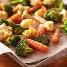 Your family will beg for seconds of these oven-roasted vegetables. The secret is in the buttery seasoned coating.
