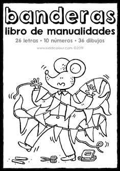 libro de manualidades con banderas - cumpleaños 26 Letters, Book Crafts, Books, Birthday Coloring Pages, Home Decor, Party, Birthday Bunting, Flags, Manualidades