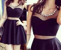 Resultado de imagem para vestido preto rodado
