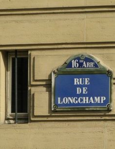 La rue de Longchamp  (Paris 16ème)