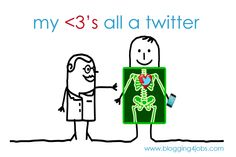 My heart's all a twitter for twitter, social media addict, addicted to twitter, facebook
