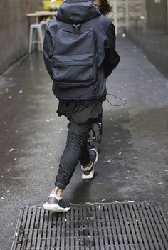 Rick Owens X Adidas Leather Nylon Sneakers