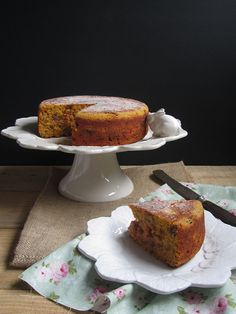 carrot, walnut and date cake