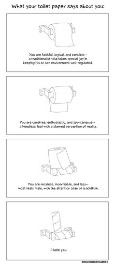 What your toilet paper says about you...