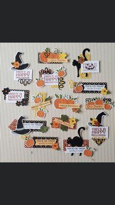 Halloween Paper Crafts, Halloween Cards, Halloween Stuff, Fall Halloween, Stampin Up Paper Pumpkin, Pumpkin Cards, Scrapbooking, Halloween Trick Or Treat, Stamping Up Cards