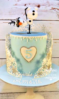 Frozen Cake - For all your cake decorating supplies, please visit craftcompany.co.uk
