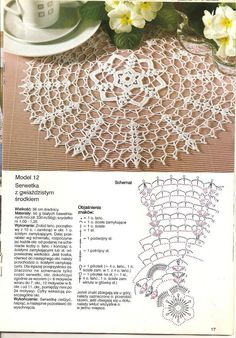 Crochet Knitting Handicraft: napkins new 1 Crochet Angel Pattern, Crochet Tablecloth Pattern, Crochet Doily Diagram, Crochet Doily Patterns, Crochet Chart, Thread Crochet, Filet Crochet, Crochet Designs, Crochet Dreamcatcher