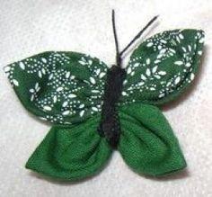 borboleta de tecido de fuxico