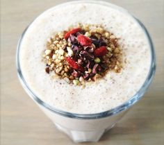 Banana Almond Butter Superfood Shake from One Green Planet